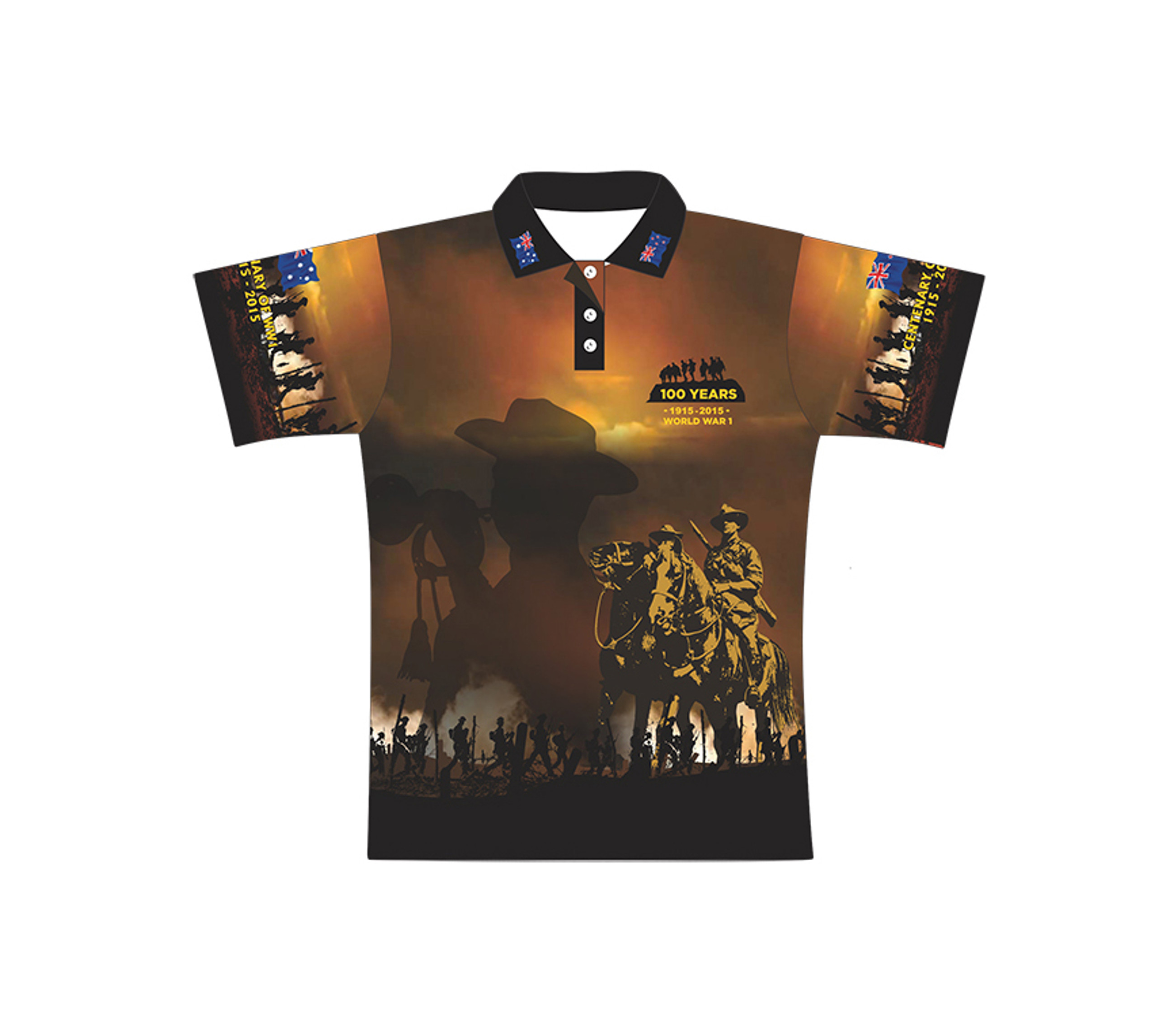 Lest we forget polo shirt amazing shirts tropic city for Polo shirts for printing